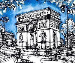 The Arc From Champs Elysees by Ingo -  sized 24x20 inches. Available from Whitewall Galleries